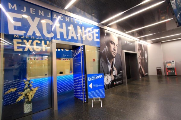 Currency Exchange Office At Cvjetni Square