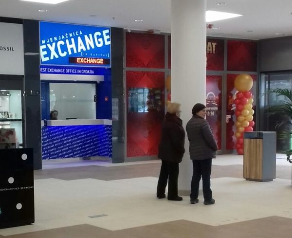 CURRENCY EXCHANGE OFFICE IN SUPERNOVA ZADAR