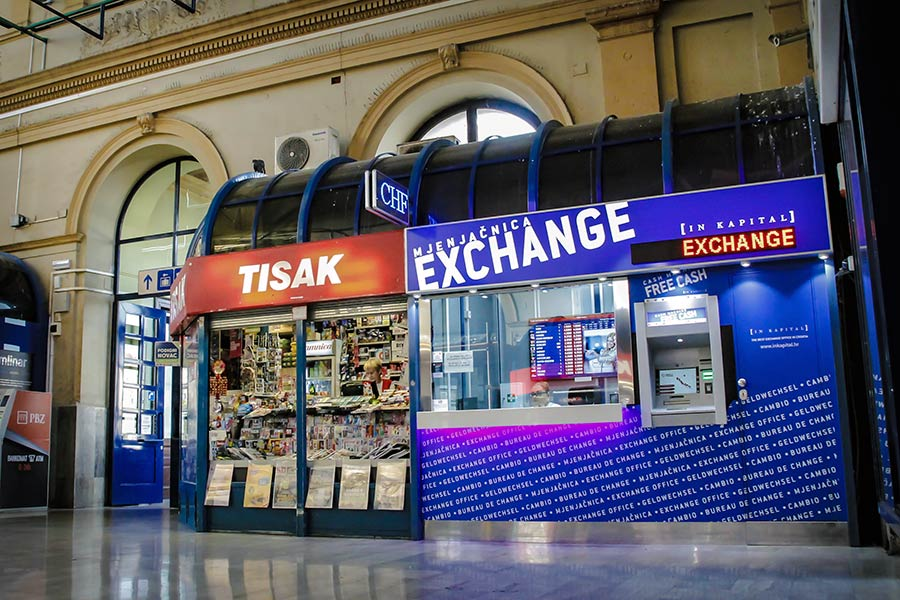 Currency Exchange Office Glavni Kolodvor Zagreb